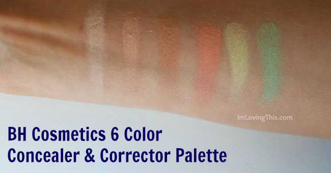 BH Cosmetics 6 Color Concealer & Corrector Palette Review