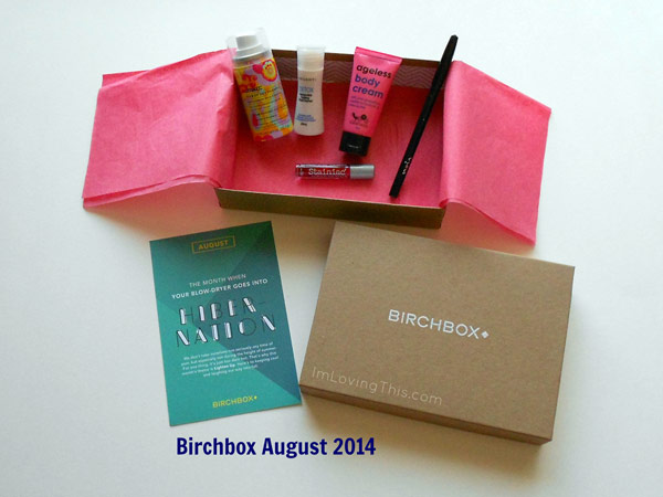 Birchbox August 2014 Unboxing