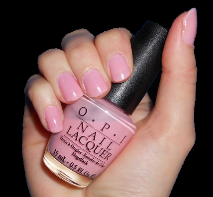 OPI pink-ing of you swatch