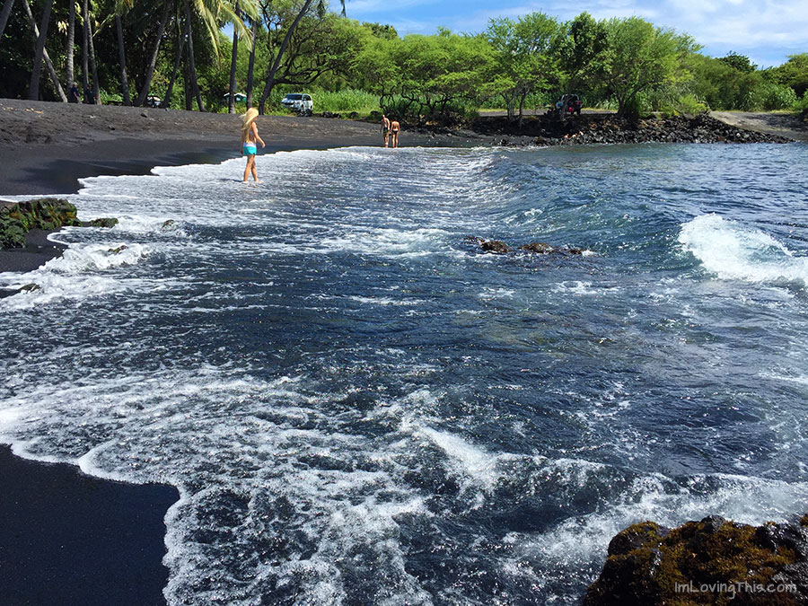 Punalu'U Beach Hawaii Black Sand Beach