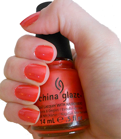 china glaze coral star swatch