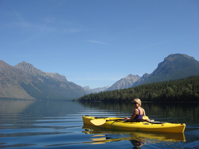 glacier national park kayaking