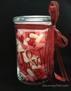 Valentine's Day Gift Candy Jar