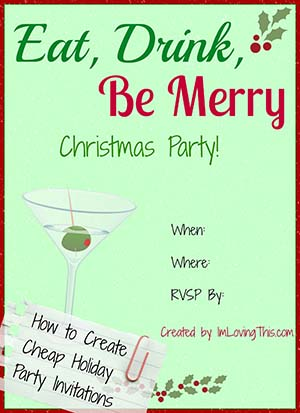 how to create cheap holiday party invitations