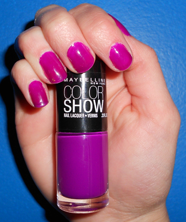 Maybelline Color Show Fuchsia Fever Swatch
