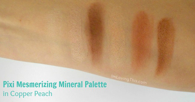Pixi Mesmerizing Mineral Palette in Copper Peach Swatch