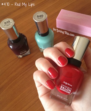 Sally Hansen Complete Salon Manicure Red My Lips #470 | ImLovingThis.com