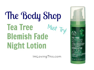 The Body Shop Tea Tree Blemish Fade Night Lotion Review