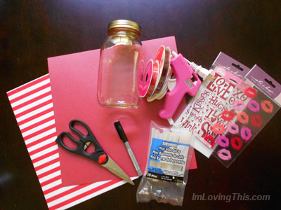 Supplies for Valentine's Day Gift