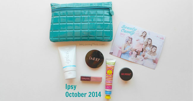 Ipsy Glam Bag October 2014
