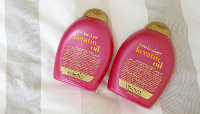 Organix Anti-Breakage Keratin Oil Shampoo + Conditioner Review
