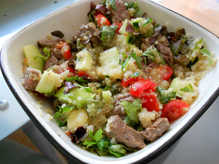Quinoa Steak Salad Recipe