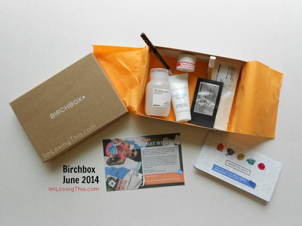 Birchbox June 2014 Opening