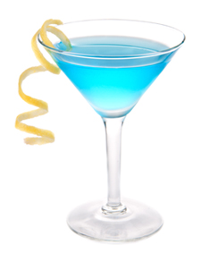Blue Freeze Martini