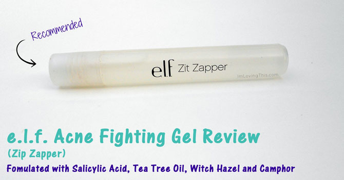 e.l.f. Acne Fighting Gel (Zit Zapper) Review