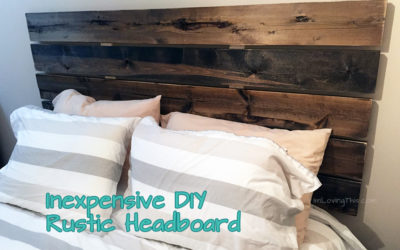 DIY Rustic Headboard for under $50 Canadian