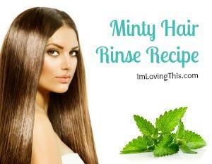 Minty Hair Rinse Recipe